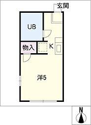 文津ハウス[2階]の間取り