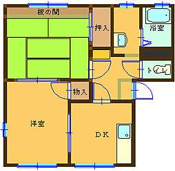 ラフォーレ大前 102号室[1階]の間取り