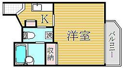 アランシア板橋本町[4階]の間取り