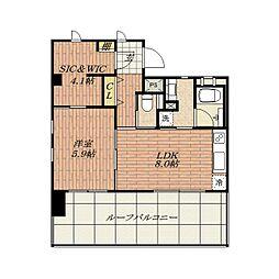 Ken's House[4階]の間取り