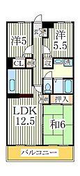 リカスコート[2階]の間取り