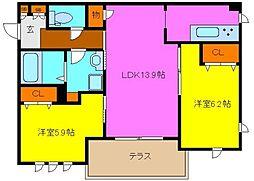 東大阪市シャーメゾン岩田町1丁目[1階]の間取り