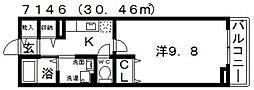カーサここII[102号室号室]の間取り