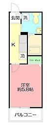 JR東海道本線 戸塚駅 徒歩4分の賃貸アパート 3階1Kの間取り