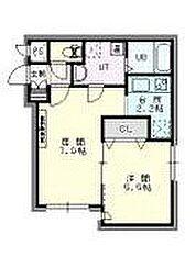 札幌市営東西線 西18丁目駅 徒歩5分の賃貸マンション 2階1LDKの間取り