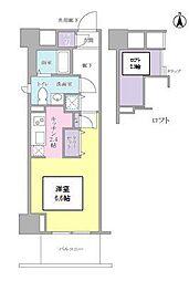 JR山手線 品川駅 徒歩13分の賃貸マンション 3階1Kの間取り