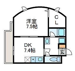 リッチモンド3[1階]の間取り