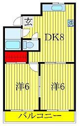 第一青木マンション[504号室]の間取り