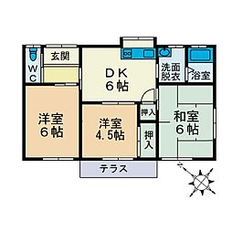 [一戸建] 神奈川県厚木市鳶尾4丁目 の賃貸【神奈川県 / 厚木市】の間取り