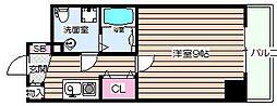プラディオ天満セレニテ[5階]の間取り