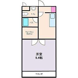 中宇マンション[406号室]の間取り