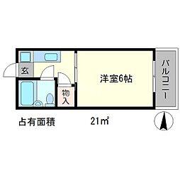 メゾンモナミ[3階]の間取り