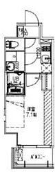 JR大阪環状線 福島駅 徒歩14分の賃貸マンション 3階1Kの間取り