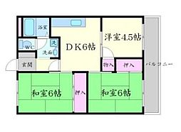 コーポ松乃井[4階]の間取り