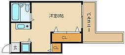 ハイネス石川[3階]の間取り
