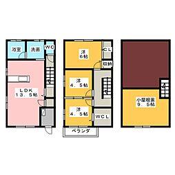 [テラスハウス] 静岡県静岡市葵区柳町 の賃貸【/】の間取り