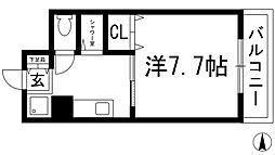 大阪府箕面市箕面4丁目の賃貸マンションの間取り