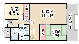 パルティ川西栄北団地[A908号室]の間取り
