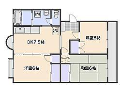 新納マンション[405号室]の間取り