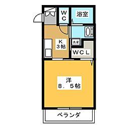 アロンジェ[2階]の間取り