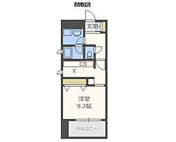 カイセイ江戸堀[6階]の間取り