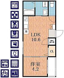 F maison COASTII[3階]の間取り