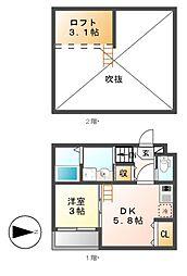 ハーモニーテラス御器所[2階]の間取り
