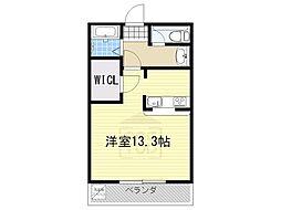 OS・SKYマンション鹿子[407号室]の間取り