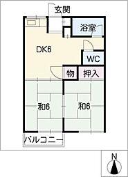 サンライズ福塚[1階]の間取り
