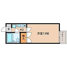 静岡県静岡市清水区草薙3丁目の賃貸アパートの間取り