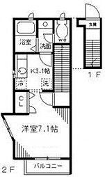 セントアルブル[2階]の間取り
