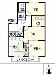 アットホームTOMIRYO[2階]の間取り