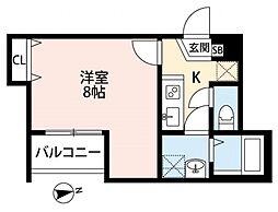 メゾングレース新松戸[202号室号室]の間取り
