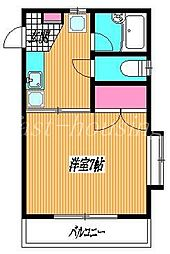 東京都武蔵野市西久保1丁目の賃貸マンションの間取り