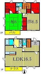 [テラスハウス] 千葉県流山市西初石3丁目 の賃貸【千葉県 / 流山市】の間取り