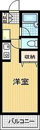 ジュネスAOKI[3階]の間取り
