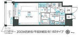 東京都新宿区北新宿1丁目の賃貸マンションの間取り