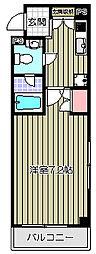 ベルエアー戸越[2階]の間取り