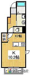 カーサ・ソレイユ五番館[1階]の間取り