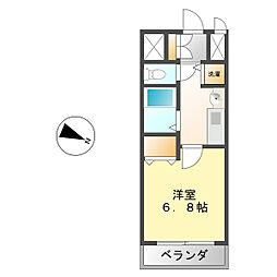プレサンス桜通り葵[905号室]の間取り