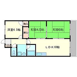 第二浦濱ビレッジ[3階]の間取り