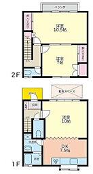 神奈川県大和市南林間5丁目の賃貸アパートの間取り
