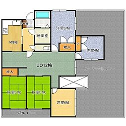 東山台スカイマンション[7階]の間取り