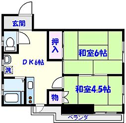 第2平田マンション[103号室]の間取り