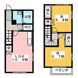 [テラスハウス] 静岡県浜松市南区白羽町 の賃貸【静岡県/浜松市南区】の間取り