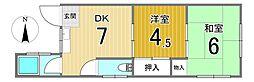 太平マンション2階Fの間取り画像
