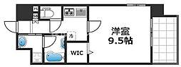 グランパシフィック花園Luxe 5階1Kの間取り
