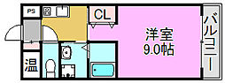 モントハイム[4階]の間取り