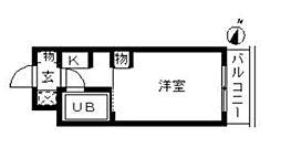 東京都墨田区墨田3丁目の賃貸マンションの間取り