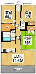 クラウンガーデン武蔵野[4階]の間取り